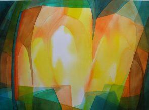 Marijke Dijkstra - nr 3 van de serie Licht doorlatend kleurenspel